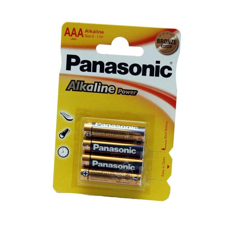 Caja de 12 blister 4 pilas Panasonic LR03