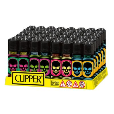 Clipper Classic Micro Neon Skulls