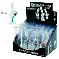 Display 12 Bong High Mini Glass